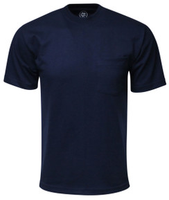 NAVY PREMIUM MAX HEAVYWEIGHT POCKET T-SHIRT