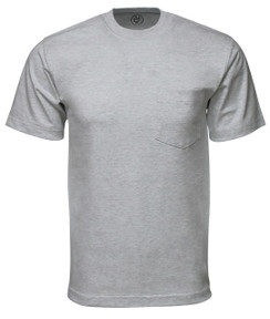 HEATHER GREY PREMIUM MAX HEAVYWEIGHT POCKET T-SHIRT