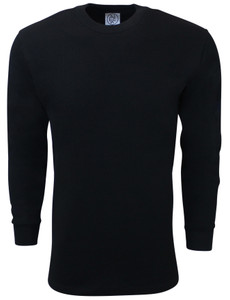 BLACK PREMIUM HEAVYWEIGHT THERMAL T-SHIRT