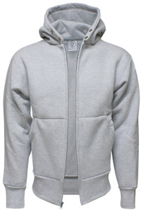 HEATHER GREY PREMIUM HEAVYWEIGHT HOODED JACKET