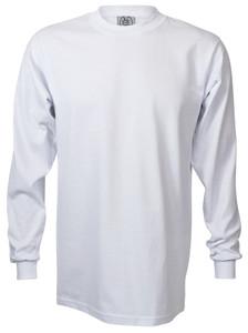 WHITE PREMIUM HEAVYWEIGHT LONG SLEEVE T-SHIRT