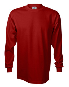 RED PREMIUM HEAVYWEIGHT LONG SLEEVE T-SHIRT
