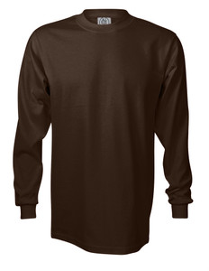 BROWN PREMIUM HEAVYWEIGHT LONG SLEEVE T-SHIRT