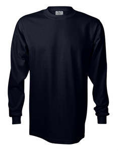 NAVY BLUE PREMIUM HEAVYWEIGHT LONG SLEEVE T-SHIRT