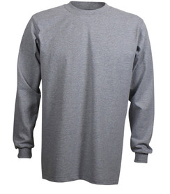 HEATHER GREY PREMIUM HEAVYWEIGHT LONG SLEEVE T-SHIRT