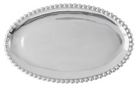 Mariposa Pearled Small Oval Platter