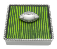 Mariposa Football Beaded Napkin Box