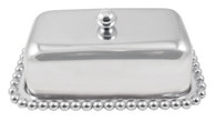 Pearled Covered Butter Dish