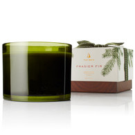 Frasier Fir Poured 3-wick Candle Green Glass Jar