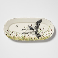 Vietri Wildlife Geese Small Oval Platter
