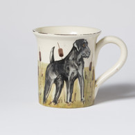 Vietri Wildlife Black Hunting Dog Mug