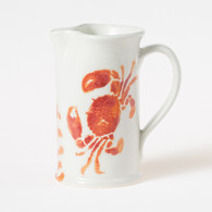Vietri Costiera Coral Crab Small Pitcher