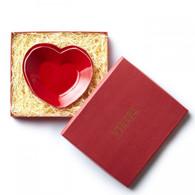 Vietri Lastra Red Heart Dish - Boxed