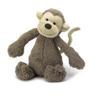 "Jellycat Bashful Monkey Medium (12"")"