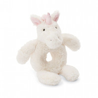 Jellycat Bashful Unicorn Ring Rattle Grabber