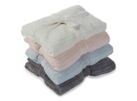 Barefoot Dreams CCL Lite Baby Blanket (Pink/Blue/Pewter)