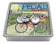 Mariposa Bicycle Beaded Napkin Box