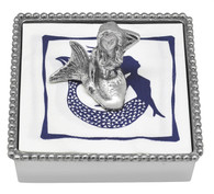 Mariposa Mermaid Beaded Napkin Box