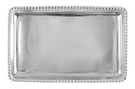 "Mariposa Rectangular Beaded Buffet Tray 9.5"" x 6"""