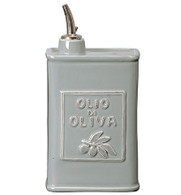 Vietri Lastra Light Gray Olive Oil Can (3896)