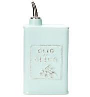 Vietri Lastra Olive Oil Can Aqua (5731)