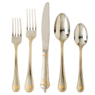 Juliska Berry & Thread Bright Satin & Gold 5 piece Flatware set (6963)