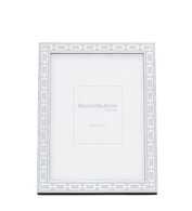 White 4 x 6 Silver Link Frame