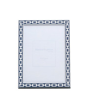 Navy 4 x 6 Silver Link Frame