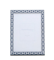 Navy 5 x 7 Silver Link Frame