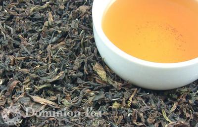 Fanciest Formosa Oolong Tea Dry Leaf and Liquor