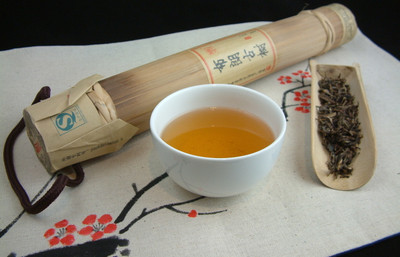 2014 Golden Bud Puerh Encased in Bamboo