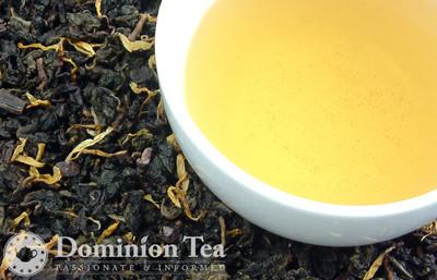 Chocolate Hazelnut Oolong tea and liquor