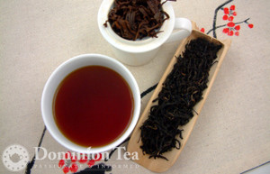 Lotus Blossom Black Tea Dry Leaf and Liquor