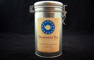 Tea Canister with label
