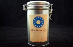 Canister with Dominion Tea Label