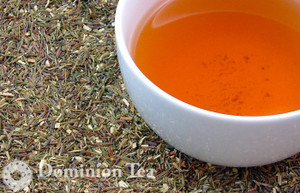 Green Rooibos Tisane Dry Leaf and Liquor