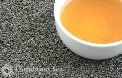 Royal Ceylon Gunpowder Tea Dry Leaf and Liquor