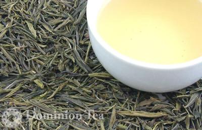 Huo Shan Huang Ya Tea Dry Leaf and Liquor