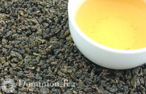 Ti Kuan Yin Oolong Tea Dry Leaf and Liquor