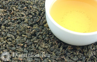 Ti Kuan Yin Oolong Tea Dry Leaf and Liquor