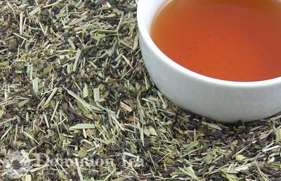 Mint Fields Tea Dry Leaf and Liquor