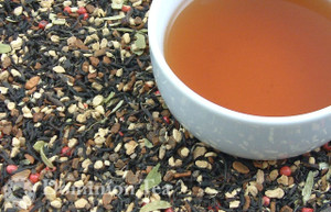 Masala Chai Organic Tea Dry Leaf and Liquor
