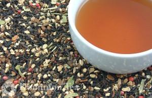 Masala Chai Organic Tea Dry Leaf and Liquor