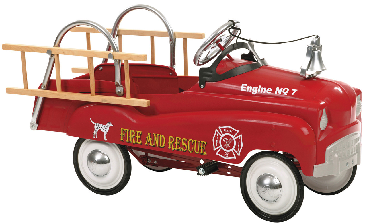 fire truck pedal car instep