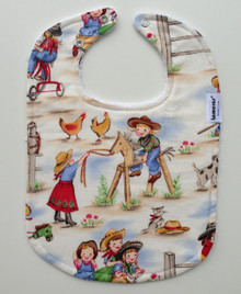 Cowgirl Long Bib