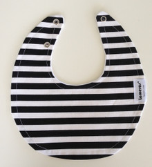 Black Stripe Round Bib