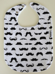 Moustache Long Bib
