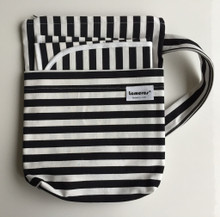 Black and White Stripe Change Bag