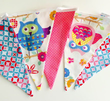 Pink Owl Bunting