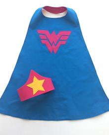 Girls Wonderwoman Superhero Cape